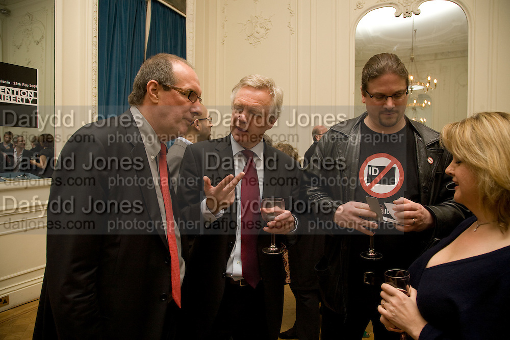 WILL HUTTON; DAVID DAVIS; PHIL BOOTH; , Vanity Fair, Baroness Helena Kennedy QC and Henry Porter launch ' The Convention on Modern Liberty'. The Foreign Press Association. Carlton House Terrace. London. 15 January 2009 *** Local Caption *** -DO NOT ARCHIVE-© Copyright Photograph by Dafydd Jones. 248 Clapham Rd. London SW9 0PZ. Tel 0207 820 0771. www.dafjones.com.<br /> WILL HUTTON; DAVID DAVIS; PHIL BOOTH; , Vanity Fair, Baroness Helena Kennedy QC and Henry Porter launch ' The Convention on Modern Liberty'. The Foreign Press Association. Carlton House Terrace. London. 15 January 2009