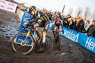2019-12-27 Cycling: dvv verzekeringen trofee: Loenhout: Corne van Kessel and Eli Iserbyt dominated the race during the first lap