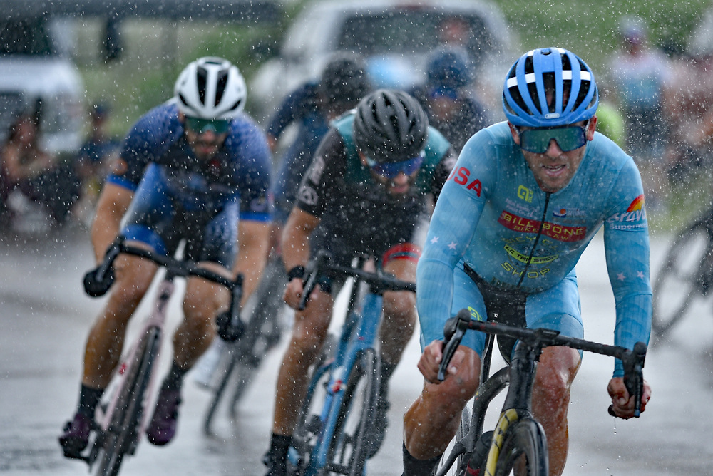 Racers in the rain