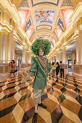 Ornate interior of  The Venetian Macao casino and hotel in Macau China