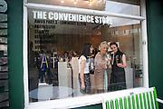 YANNI TSIRKAS; ATALANTA WELLER;  JOANNA TROLLOPE, Launch of Atalanta Weller's range of shoes at & The Convenience Store, Golborne Gdns.  Hazlewood Tower<br /> Golborne Gardens, London W10 5DT 24 August 2011.<br /> <br />  , -DO NOT ARCHIVE-© Copyright Photograph by Dafydd Jones. 248 Clapham Rd. London SW9 0PZ. Tel 0207 820 0771. www.dafjones.com.