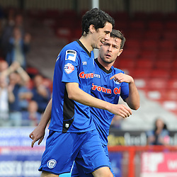 Rochdale's Peter Vincenti celebrates scoring his sides second goal -  photo mandatory by-line David Purday JMP- Tel: Mobile 07966 386802 - 06/09/14 - Crawley Town v Rochdale - SPORT - FOOTBALL - Sky Bet Leauge 1 - London - Checkatrade.com Stadium