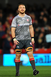 Ruan Ackermann of Gloucester Rugby warms up- Mandatory by-line: Nizaam Jones/JMP - 22/02/2019 - RUGBY - Kingsholm - Gloucester, England- Gloucester Rugby v Saracens - Gallagher Premiership Rugby
