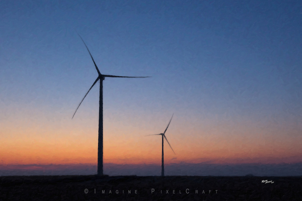 New wind generators stand ready. The new rural economy now includes renewable and sustainable energy production