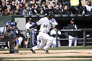 CHICAGO - APRIL 01:  Alejandro De Aza #30 of the Chicago White Sox bats against the Kansas City Royals on April 1, 2013 at U.S. Cellular Field in Chicago, Illinois.  The White Sox defeated the Royals 1-0.  (Photo by Ron Vesely)   Subject: Alejandro De Aza