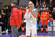DESCRIZIONE : Eurocup 2014/15 Last32 Dinamo Banco di Sardegna Sassari -  Banvit Bandirma<br /> GIOCATORE : David Logan<br /> CATEGORIA : Postgame Ritratto Delusione<br /> SQUADRA : Dinamo Banco di Sardegna Sassari<br /> EVENTO : Eurocup 2014/2015<br /> GARA : Dinamo Banco di Sardegna Sassari - Banvit Bandirma<br /> DATA : 11/02/2015<br /> SPORT : Pallacanestro <br /> AUTORE : Agenzia Ciamillo-Castoria / Claudio Atzori<br /> Galleria : Eurocup 2014/2015<br /> Fotonotizia : Eurocup 2014/15 Last32 Dinamo Banco di Sardegna Sassari -  Banvit Bandirma<br /> Predefinita :
