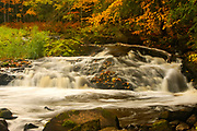 Montreal River, Hurley, Wisconsin, natural nature peaceful tranquil tranquility water waterfall autumn colours autumnal