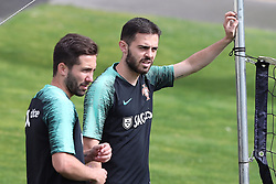 May 30, 2018 - Lisbon, Portugal - Portugal's forward Bernardo Silva (R ) and Portugal's midfielder Joao Moutinho (L) during a training session at Cidade do Futebol (Football City) training camp in Oeiras, outskirts of Lisbon, on May 30, 2018, ahead of the FIFA World Cup Russia 2018 preparation matches against Belgium and Algeria...........during the Portuguese League football match Sporting CP vs Vitoria Guimaraes at Alvadade stadium in Lisbon on March 5, 2017. Photo: Pedro Fiuzaduring the Portugal Cup Final football match CD Aves vs Sporting CP at the Jamor stadium in Oeiras, outskirts of Lisbon, on May 20, 2015. (Credit Image: © Pedro Fiuza/NurPhoto via ZUMA Press)