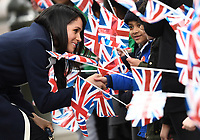 Prince Harry and Meghan Markle visit Millennium Point in Birmingham, UK, on the 8th March 2018.<br /> <br /> Picture by James Whatling