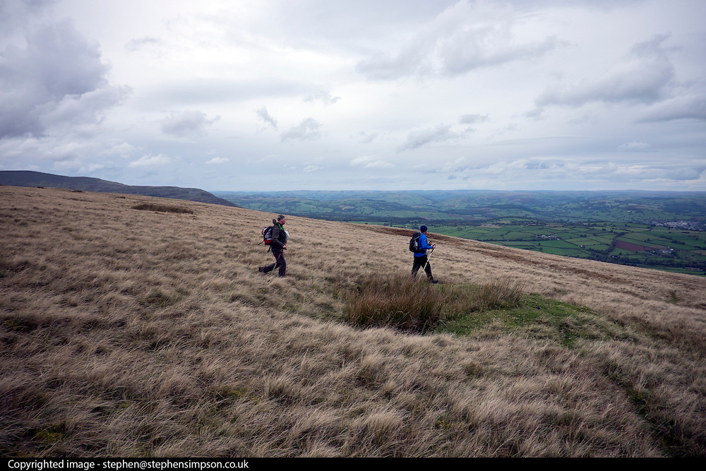 © Licensed to London News Pictures. 15/10/2016. Brecon Beacons, UK Lads camping Brecon Beacons Fan Y Big. Photo credit : Stephen Simpson/LNP