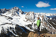 Sterling Roop looks out towards Mount Sneffels and Blaine Basin, San Juan Mountains, Colorado.
