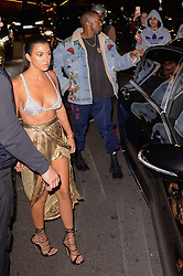 Kourtney Kardashian and Kanye West arriving at the Balmain Aftershow Party as a part of Paris Fashion Week Ready to Wear Spring/Summer 2017 on September 29, 2016 in Paris, France. Photo by Julien Reynaud/APS-Medias/ABACAPRESS.COM