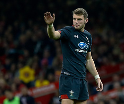 Dan Biggar of Wales<br /> <br /> Photographer Simon King/Replay Images<br /> <br /> Under Armour Series - Wales v Tonga - Saturday 17th November 2018 - Principality Stadium - Cardiff<br /> <br /> World Copyright © Replay Images . All rights reserved. info@replayimages.co.uk - http://replayimages.co.uk