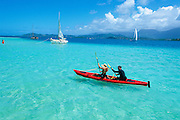Kayaking, Kaneohe Bay, Kaneohe, Oahu, Hawaii, USA<br />