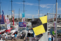 No wind on the first day of racing. Racing postponed and rescheduled for the next day. AUDI MedCup Barcelona, Spain, 21th July 2010, Camper Regatta - Conde de Godo Trophy (21-25 July 2010) © Sander van der Borch / Artemis