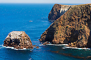 Cavern Point and sea caves, Santa Cruz Island, Channel Islands National Park, California USA