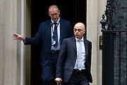 Home Secretary Sajid Javid leaves 10 Downing Street following a weekly cabinet meeting on 25th June 2019 in London, United Kingdom.