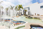 Oceanside Public Library and Water Fountain