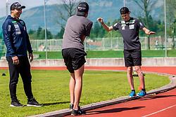 Gorazd Bertoncelj head coach of national ski jumping team during training of Slovenian Ski Jumping team, on April 25th, 2019 in Sports Park Kranj, Kranj, Slovenia. Photo by Grega Valancic / Sportida