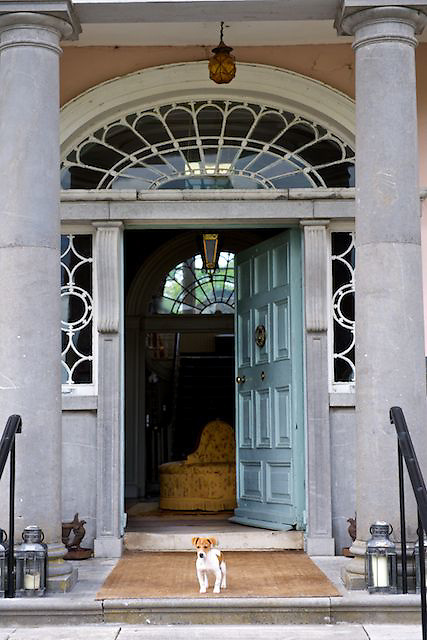 Front door of Longueville House