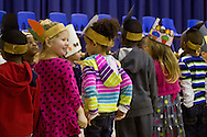 """Middletown, New York - Preschool and pre-K students perform in the """"YMCA Thanksgiving Day Spectacular"""" at the Center for Youth Programs on Nov. 27, 2013."""