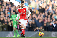 Laurent Koscielny of Arsenal in action. Premier league match, Chelsea v Arsenal at Stamford Bridge in London on Saturday 4th February 2017.<br /> pic by John Patrick Fletcher, Andrew Orchard sports photography.