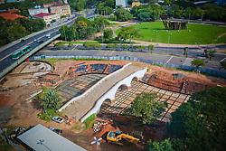 Obra na Ponte de Pedra, no centro de Porto Alegre segue lentamente sem prazo de término. FOTO: Marcos Nagelstein/ Agência Preview