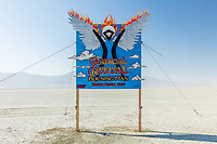 Burning Man 2017 sign by Mad Dog