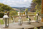 The outdoor dining area at The Old Rectory, Chumleigh, Devon <br /> CREDIT: Vanessa Berberian for The Wall Street Journal<br /> LUXRENT-Nanassy/Chulmleigh