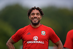 CARDIFF, WALES - Tuesday, August 29, 2017: Wales' captain Ashley Williams during a training session at the Vale Resort ahead of the 2018 FIFA World Cup Qualifying Group D match against Austria. (Pic by David Rawcliffe/Propaganda)