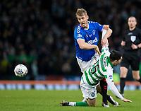 Football - 2019 Betfred Scottish League Cup Final - Celtic vs. Rangers<br /> <br /> Filip Helander of Rangers vies with Lewis Morgan of Celtic, Hampden Park Glasgow.<br /> <br /> COLORSPORT/BRUCE WHITE