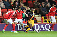 Bradford City midfielder Mark Marshall (7) taking on Charlton players during the EFL Sky Bet League 1 match between Charlton Athletic and Bradford City at The Valley, London, England on 14 March 2017. Photo by Matthew Redman.