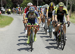 July 24, 2018 - Bagneres De Luchon, France - BAGNERES-DE-LUCHON, FRANCE - JULY 24 : MINNAARD Marco (NED) of Wanty - Groupe Gobert, HAYMAN Mathew (AUS) of Mitchelton - Scott during stage 16 of the 105th edition of the 2018 Tour de France cycling race, a stage of 218 kms between Carcassonne and Bagneres-De-Luchon on July 24, 2018 in Bagneres-De-Luchon, France, 24/07/2018 (Credit Image: © Panoramic via ZUMA Press)