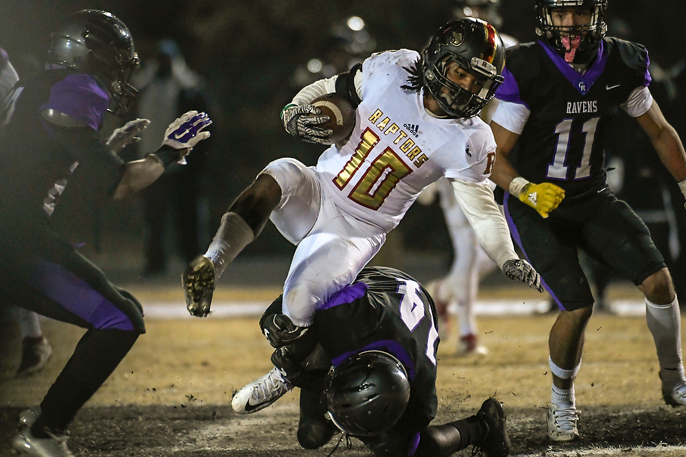 TSSAA Football playoffs at Cane Ridge High School against the Ravenwood High School Ravens