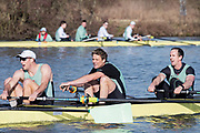 Henley on Thames, UK, 17th February 2019,  Pre Boat Race Fixture,  Cambridge University Blue Boat and Reserve, Goldie, Race over Henley Reach, Two crews from Leander Club, Rowing at two, [Centre], James CRACKNELL, England, [Mandatory Credit/ Peter SPURRIER/Intersport Images]