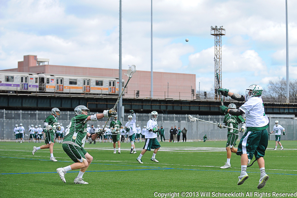 Manhattan College Jaspers men's lacrosse vs. Jacksonville University Dolphins on March 23, 2013 at Gaelic Field in New York, N.Y..