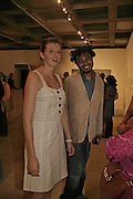 Mara Zoller AND Yinka Shonibare. HOW TO IMPROVE THJE WORLD.- 6o Years of British art. Hayward Gallery. 6 September 2006. ONE TIME USE ONLY - DO NOT ARCHIVE  © Copyright Photograph by Dafydd Jones 66 Stockwell Park Rd. London SW9 0DA Tel 020 7733 0108 www.dafjones.com
