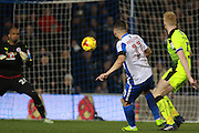 Brighton & Hove Albion winger Anthony Knockaert scores a goal to make it 3-0 during the EFL Sky Bet Championship match between Brighton and Hove Albion and Reading at the American Express Community Stadium, Brighton and Hove, England on 25 February 2017. Photo by Bennett Dean.