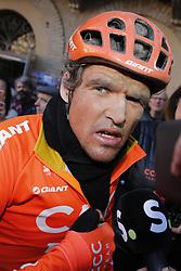 March 9, 2019 - Siena, Italy - Belgian Greg Van Avermaet of CCC Team pictured after the Strade Bianche one day cycling race in Siena, Italy, Saturday 09 March 2019...BELGA PHOTO YUZURU SUNADA (Credit Image: © Yuzuru Sunada/Belga via ZUMA Press)