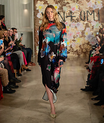 © Licensed to London News Pictures. 14/02/2019. London, United Kingdom.   Jodie Kidd on the catwalk at London Fashion Week AW19 Vin and Omi show.  Photo credit : Richard Isaac/LNP