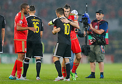 after Wales win the match 1-0 to top their UEFA2016 Qualifying Group - Photo mandatory by-line: Rogan Thomson/JMP - 07966 386802 - 12/06/2015 - SPORT - FOOTBALL - Cardiff, Wales - Cardiff City Stadium - Wales v Belgium - EURO 2016 Qualifier.