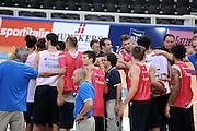 DESCRIZIONE : Trento Primo Trentino Basket Cup Nazionale Italia Maschile <br /> GIOCATORE : team<br /> CATEGORIA : allenamento<br /> SQUADRA : Nazionale Italia <br /> EVENTO :  Trento Primo Trentino Basket Cup<br /> GARA : Allenamento<br /> DATA : 26/07/2012 <br /> SPORT : Pallacanestro<br /> AUTORE : Agenzia Ciamillo-Castoria/C.De Massis<br /> Galleria : FIP Nazionali 2012<br /> Fotonotizia : Trento Primo Trentino Basket Cup Nazionale Italia Maschile<br /> Predefinita :