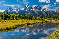 """A beautiful day in Grand Teton National Park at Shwabacker Landing.<br /> <br /> For production prints or stock photos click the Purchase Print/License Photo Button in upper Right; for Fine Art """"Custom Prints"""" contact Daryl - 208-709-3250 or dh@greater-yellowstone.com"""