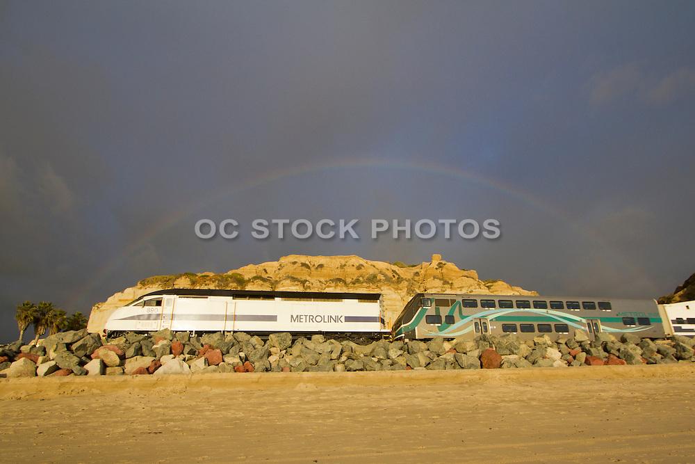 Metrolink Traveling Through Calafia State Beach in San Clemente