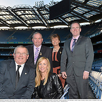 28 November 2012; Uachtarán Chumann Lúthchleas Gael Liam Ó Néill, second from left, with from left, Joe O'Donoghue, President of the Rounders Association,  Helen O'Rourke, Ard Stiurthóir, Ladies Gaelic Football, Aileen Lawlor, President of the Camogie Association, and Chris Curran, National Manager, Handball Association, in attendance at the launch of the GAA Annual Games Development Conference. Croke Park, Dublin. Picture credit: Brian Lawless / SPORTSFILE