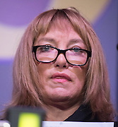 © Licensed to London News Pictures. 28/02/2015. Margate, UK. Kellie Maloney was brought to tears after reading a poem during an emotional speech at the second day of the conference.  The UKIP spring conference at Margate Winter Gardens 28th February 2015. Photo credit : Stephen Simpson/LNP