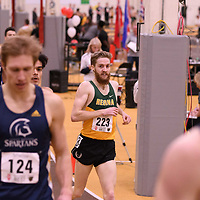 Alexander Eiswerth in action during the 2018 Canada West Track & Field Championship on February  24 at James Daly Fieldhouse. Credit: Arthur Ward/Arthur Images