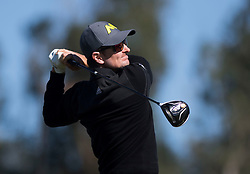 January 27, 2017 - San Diego, Calif, USA - Second day leader Justin Rose tees off during the second day of the Farmers Insurance Open golf tournament at Torrey Pines in San Diego, Calif. on Friday, January 27, 2017. (Photo by Kevin Sullivan, Orange County Register/SCNG) (Credit Image: © Kevin Sullivan/The Orange County Register via ZUMA Wire)