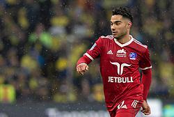 Rezan Corlu (Lyngby BK) under kampen i 3F Superligaen mellem Brøndby IF og Lyngby Boldklub den 1. marts 2020 på Brøndby Stadion (Foto: Claus Birch).