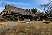"""Kitaoji Rosanjin was considered to be a """"universal genius"""" as he was known for his many talents in several fields: pottery, cooking and painting. In the hall at Shunpu Banriso the masterpiece of his work is displayed within an old private house that Kitaoji Rosanjin used as his home. Outside the tea ceremony room there is a stone garden imitating Ryoanji. In front of the main hall is la otus pond,  garden that makes use of the land's topography.  This nature-rich garden utilize the natural topography in front of the main building and the small river from the mountain. Shunpu Banriso is a branch of the Kasama Nichido Museum."""